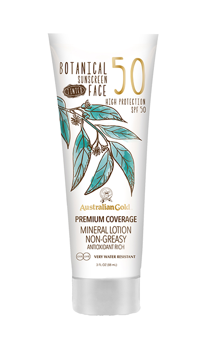 lsf 50 botanical tinted face lotion von australian gold